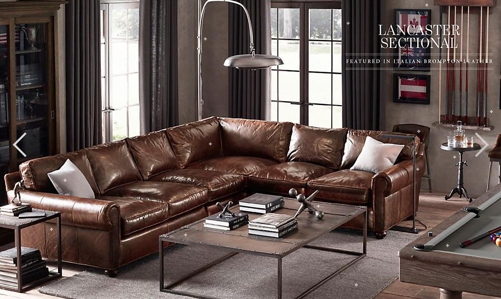 Restoration Hardware Furniture Leather Sofa Love Style