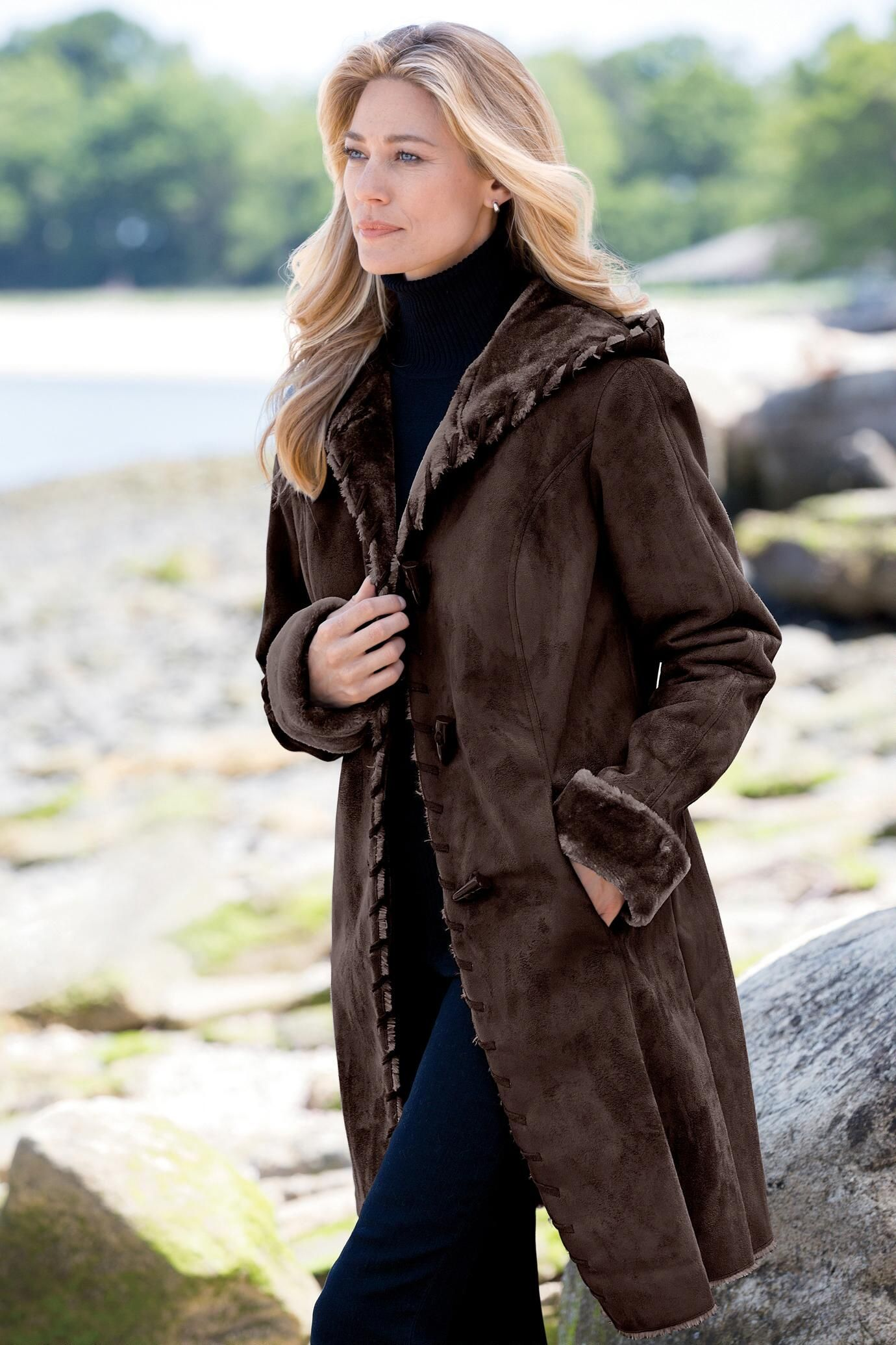 Faux Shearling Coat by Tally Ho: Classic Women's Clothing from ...
