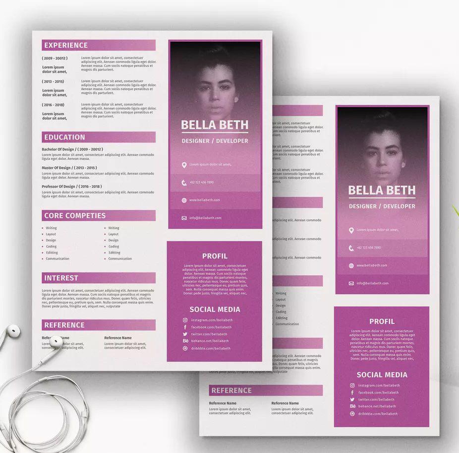 Clean resume cv template ai psd a4 clean resume