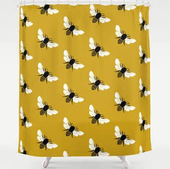 bee shower curtain - Google Search