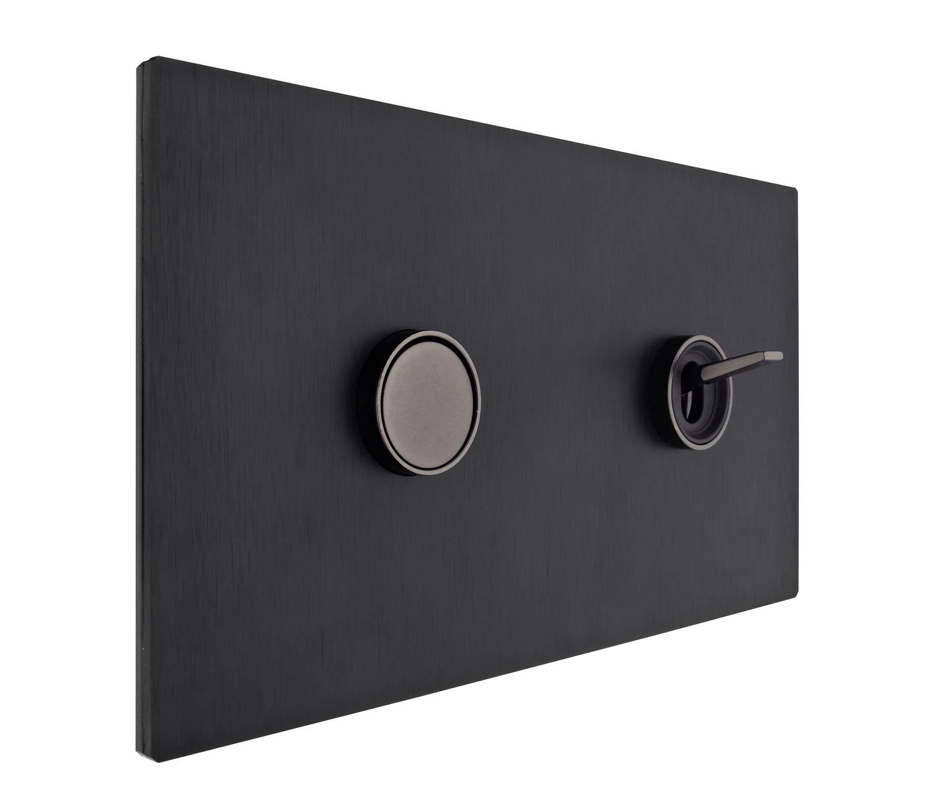 5 1 Double Black Anodized Aluminium Pushbutton Graphite Interior Graphite Toggle Two Way Switch Double Black Anodized Al Switch Plates Light Switch Design
