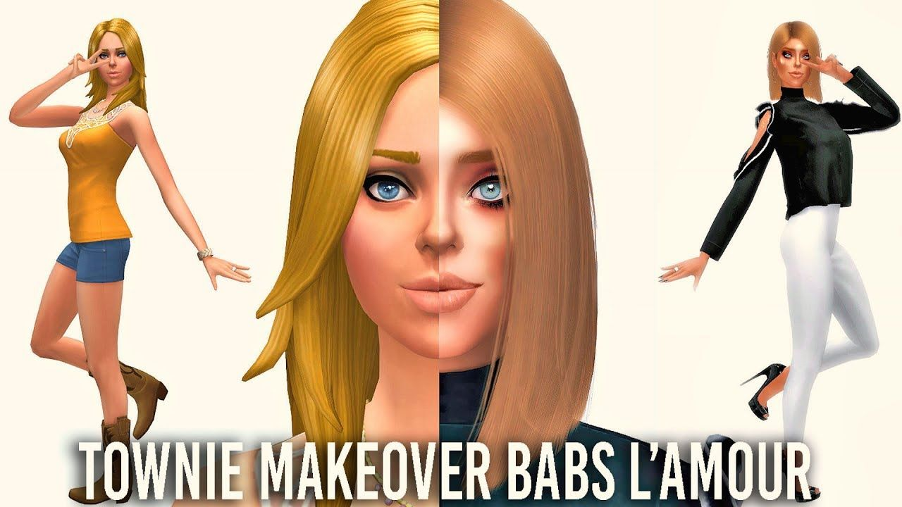 The Sims 4 Townie Makeover ; BABS L'AMOUR + Full CC List