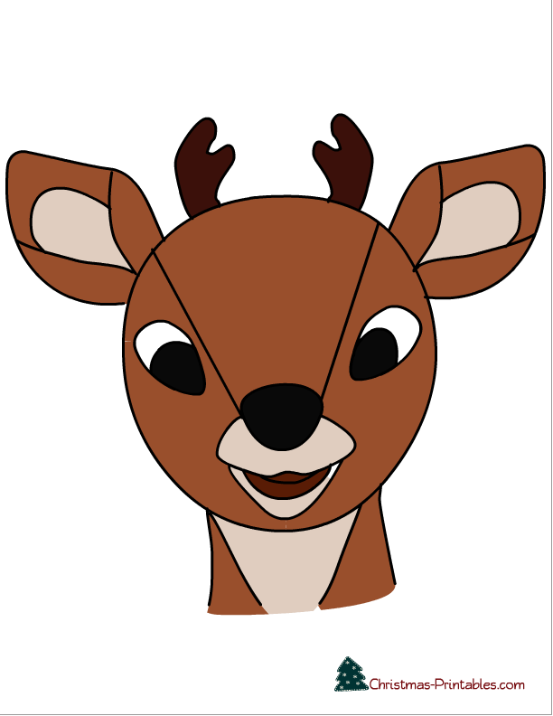 image about Pin the Nose on the Reindeer Printable named Pin the nose upon Rudolph, and Xmas phrase scramble