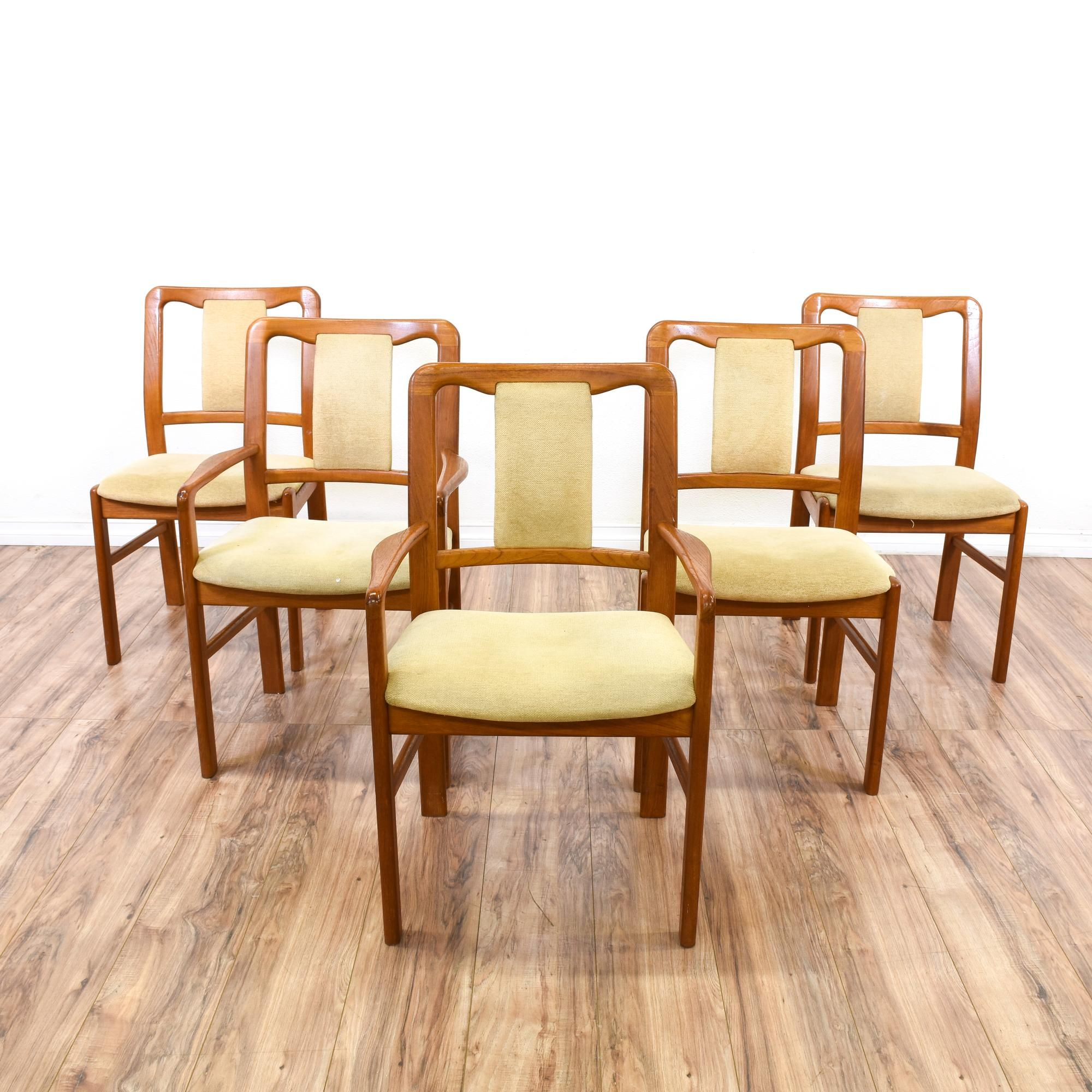 "Set of 5 ""Boltinge"" Teak Danish Modern Chairs This set of 5"