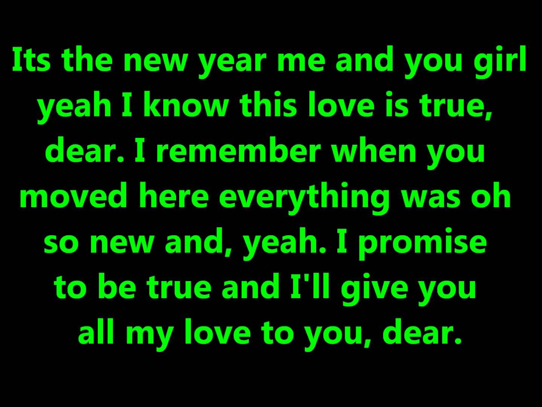 Justin Bieber Feat Jaden Smith Happy New Year Lyrics On Screen Hd Happy New Year Lyrics Lyrics Happy New Year