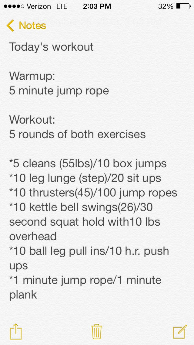 Today's workout 11/26/2013