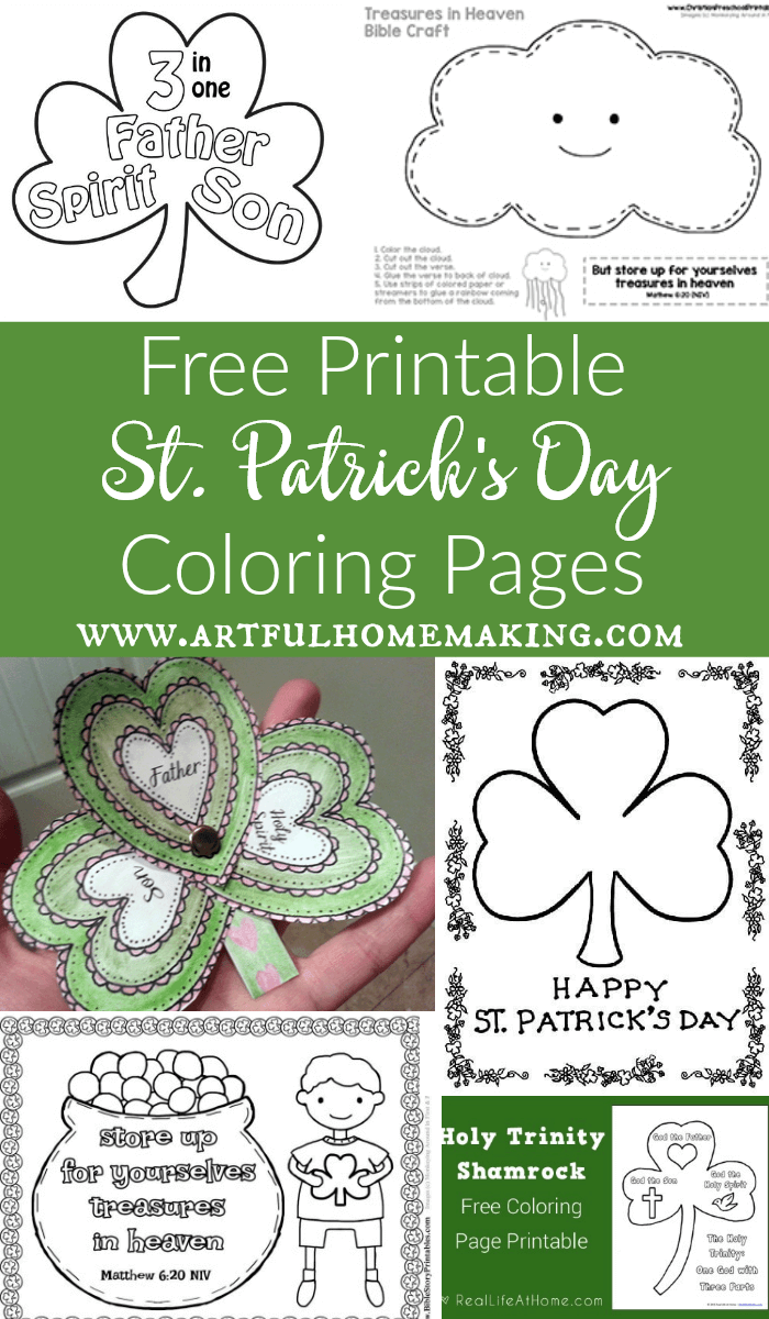 St. Patrick\'s Day Coloring Pages and Free Printables | Printable ...