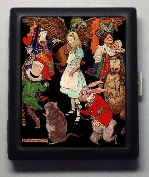 Alice in Wonderland    Metal Cigarette Case by PocketfulofMiracles