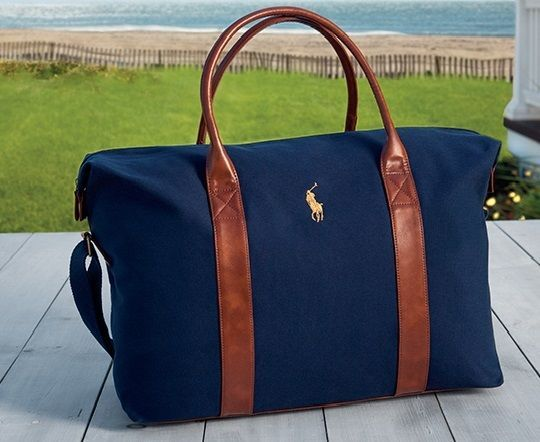 f182c2b3fde2 NEW Ralph Lauren Polo Navy Blue   Weekend   Travel   Gym   Holdall   Duffle  Bag