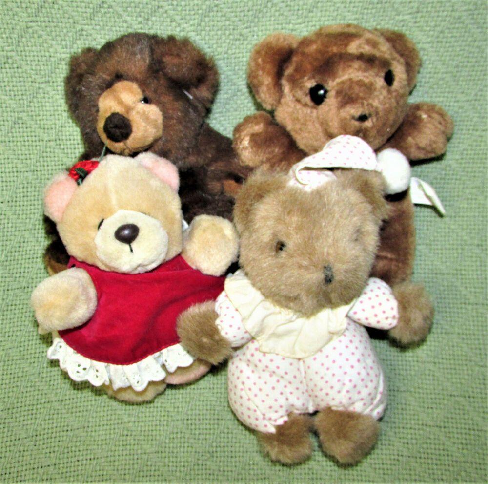 "6"" TEDDY BEAR LOT Mini Plush ANDREW BROWNSWORD Russ GAF ..."