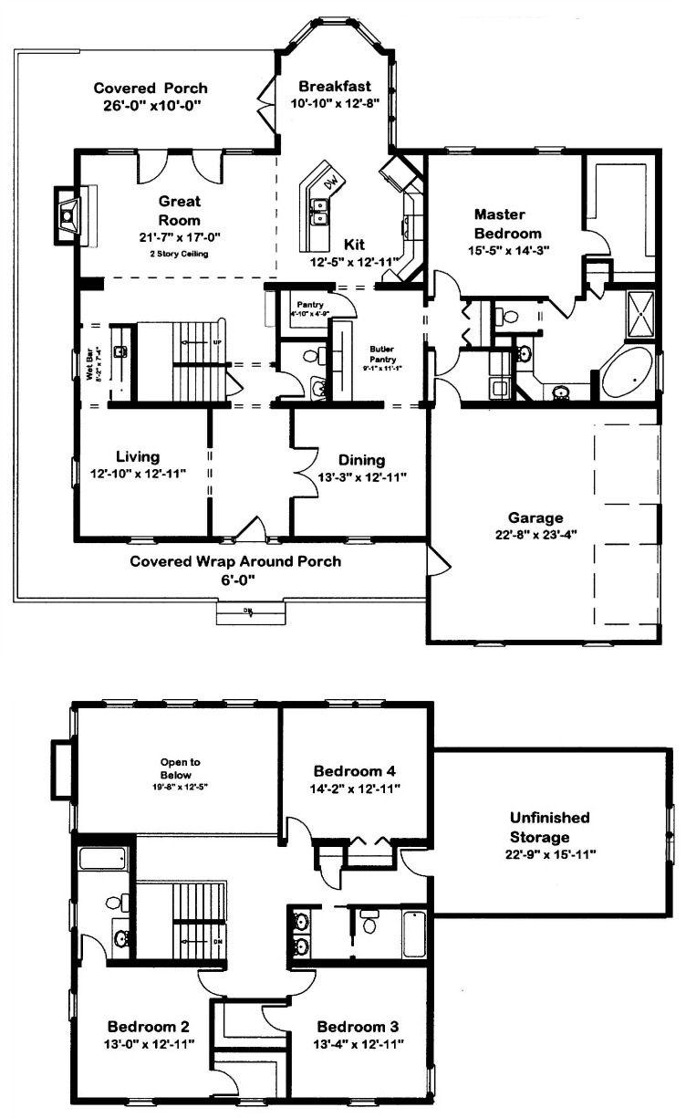 Canton 2Story Modular Home Floor Plan Modular home