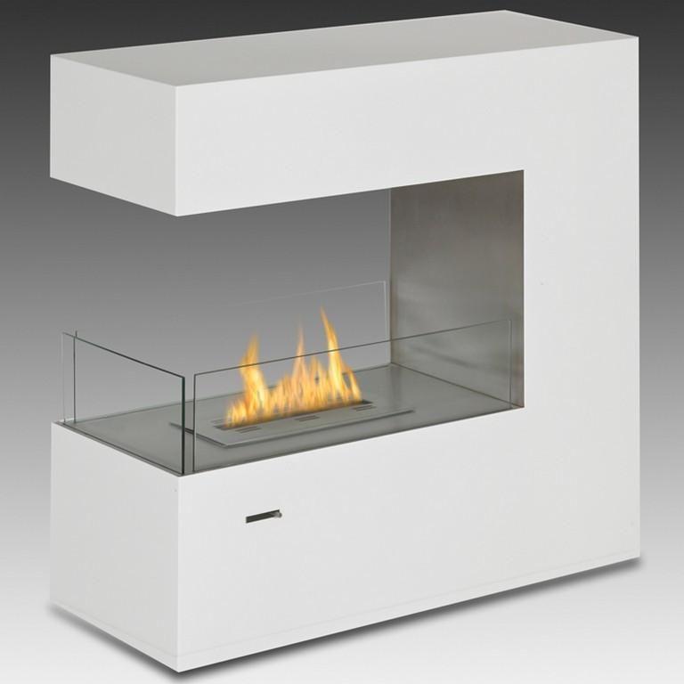 Paramount Freestanding Bio Ethanol Fireplace Gloss White Eco Feu Fs 00082 Sw Openhaard Ideeën Ethanol Haard Haard