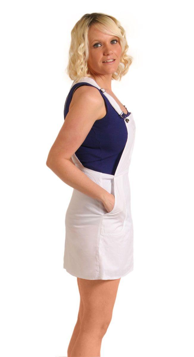 fd616ad6a72 Light summery white cotton dungaree dress  dungareedress  skirtalls   summerfashion