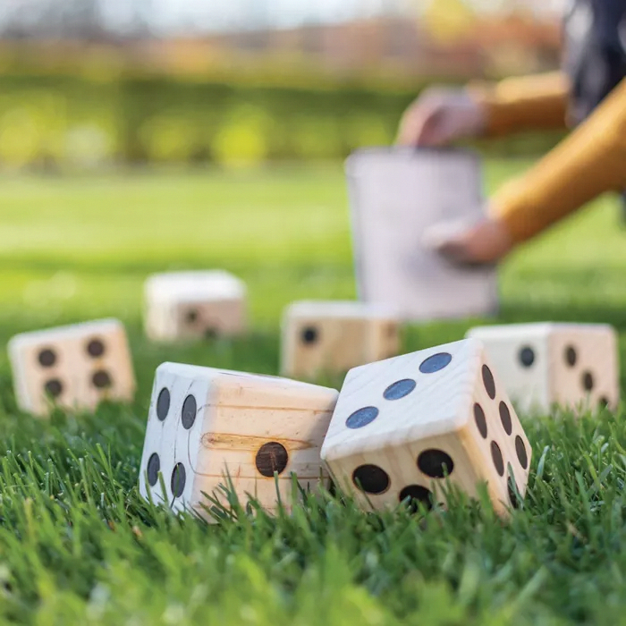Beyond Outdoors Wooden Yard Dice Lawn Bowling Set In 2020 Backyard Games Yard Dice Family Entertainment