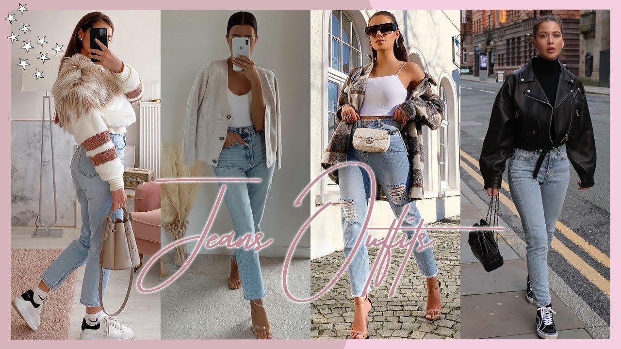 Outfits Con Jeans 2020 2021 Pantalones De Mezclilla Moda Otono Invie Moda Otono Moda Pantalones De Mezclilla