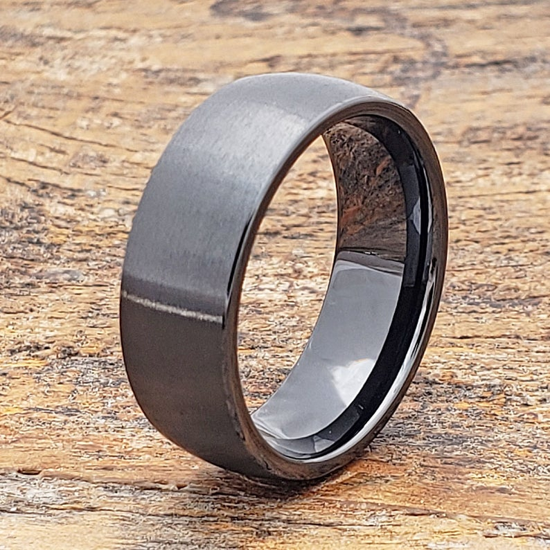 Ceramic Ring Black Ring Men S Wedding Ring Black Etsy Black Ceramic Ring Ceramic Rings Mens Wedding Rings