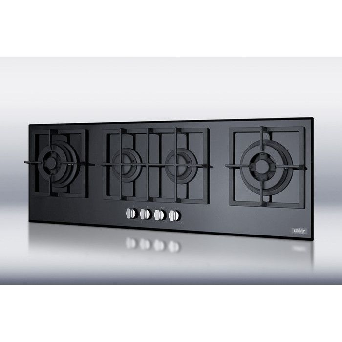 Summit 43 Gas Cooktop With 4 Burners Home Improvement Glass