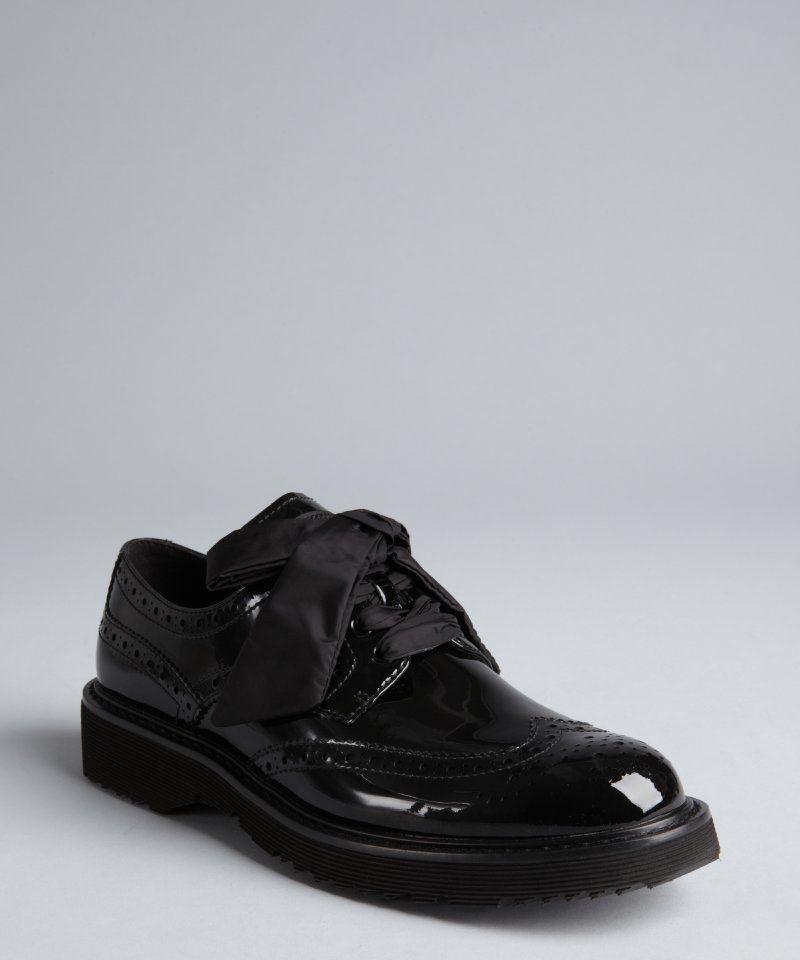 79f5f670414 Prada women s Prada Sport black patent leather chunky sole wingtip oxfords