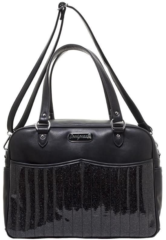 e59603bf1c Retro Sparkle PVC Diaper Bag by Sourpuss - Black in 2019