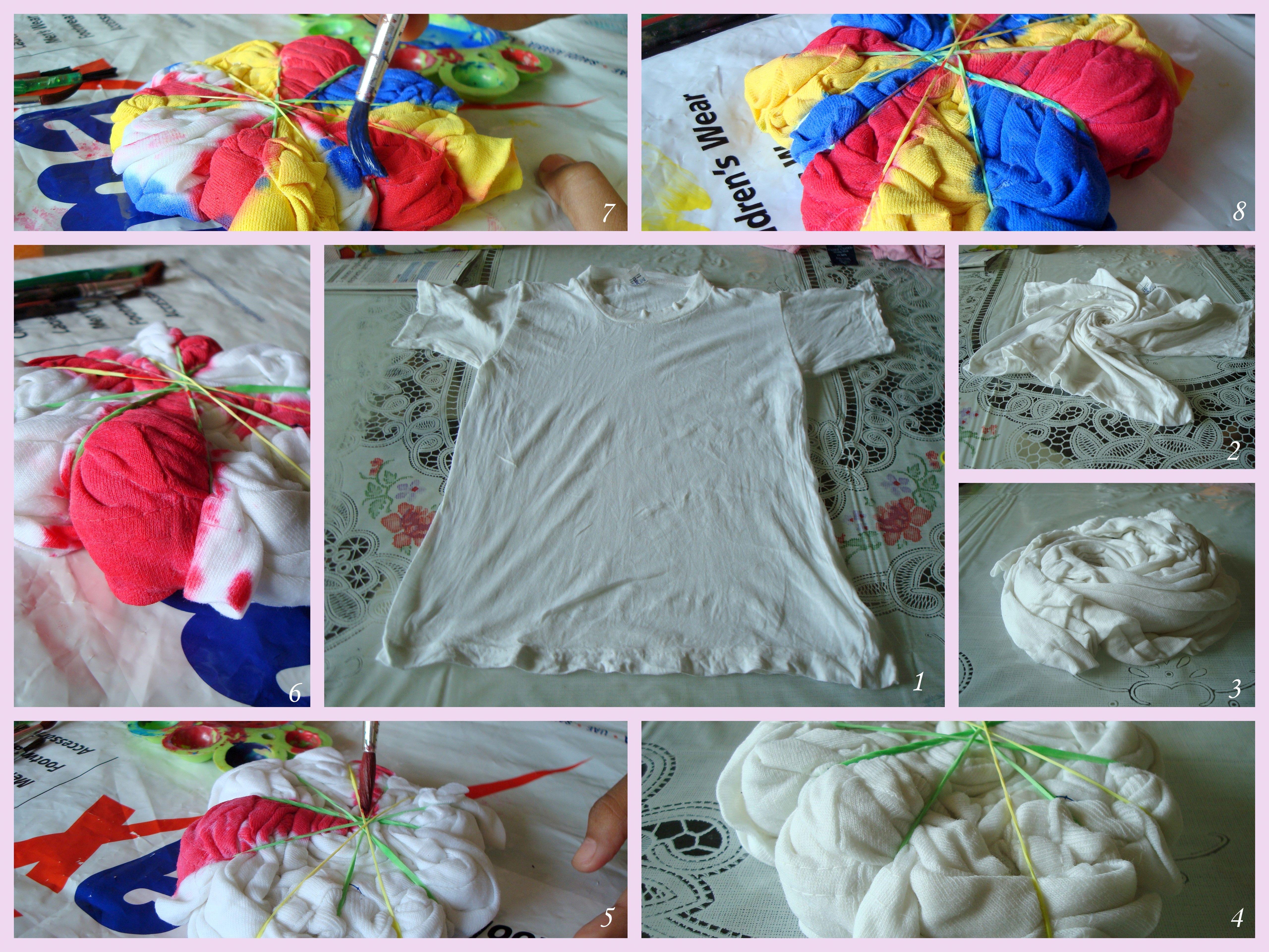 Tie n dye t shirt tutorial shirt tutorial acrylics and acrylic tie n dye t shirt baditri Gallery