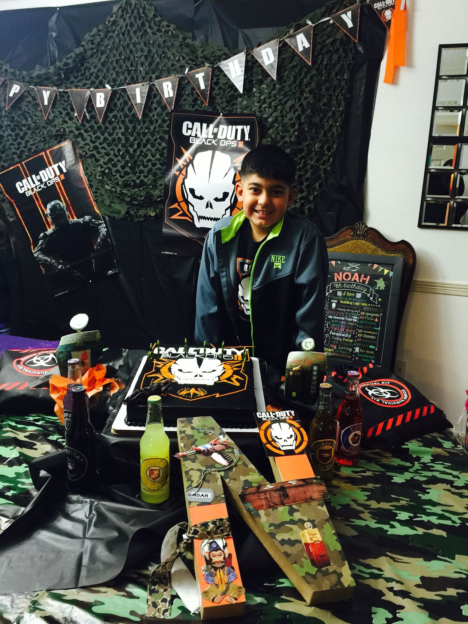 My noahs call of duty black ops 3 party decorcake twins birthday my noahs call of duty black ops 3 party decorcake filmwisefo Image collections