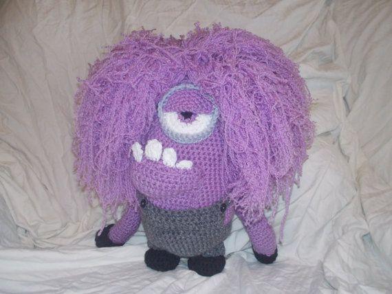 Amigurumi Despicable Me Purple Evil Minion by StephanieTwistedYarn ...