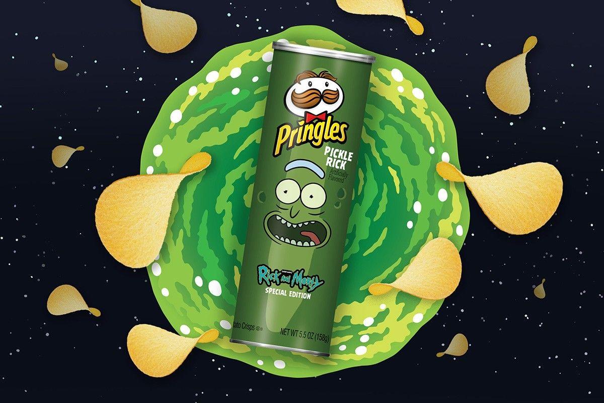 Pringles Taps Rick And Morty For New Pickle Rick Flavor Rick Y Morty Rick Y Figura De Vinilo