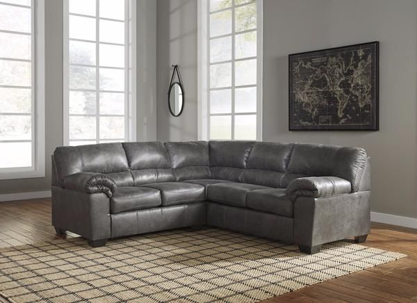 Best Bladen Slate 2 Piece Sectional With Images Faux 400 x 300