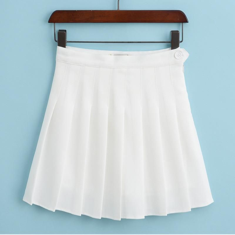8ec6af21b3 Sports High Waist Skirts Short Pleated Skirt School Dresses for Teen Girls  Tennis Scooters