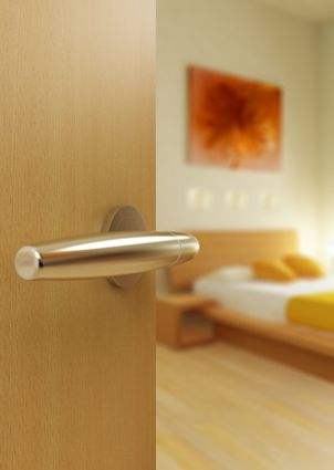 interior door hardware often comes with a standard brass or chrome finish - Mid Century Modern Interior Door Knobs