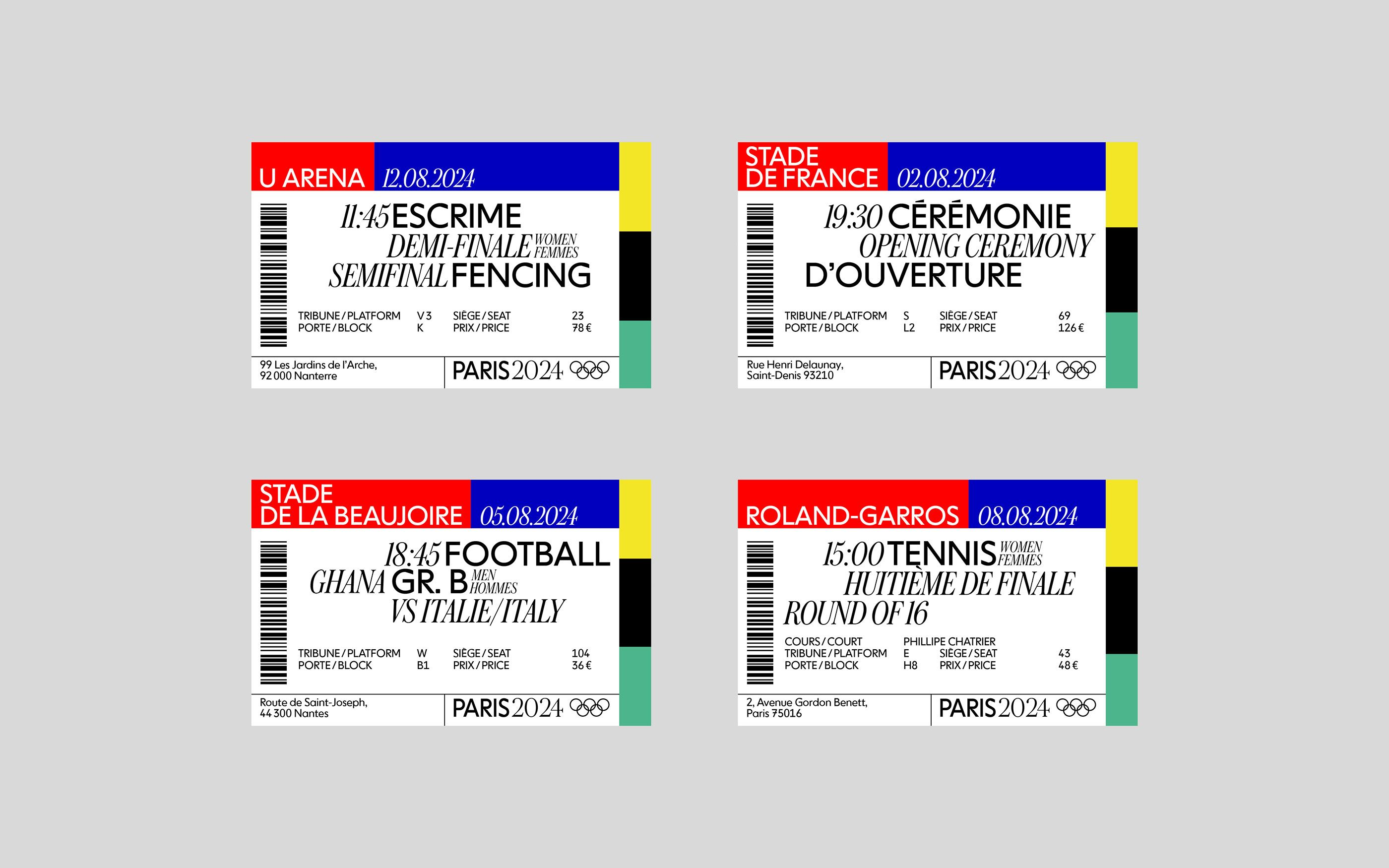 Tickets Olympics Paris 20 on Behance   Graphic design cards ...