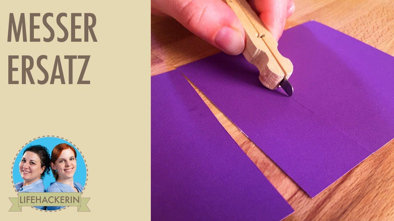 Wäscheklammer-Cutter I Anspitzer-Upcycling I DIY-Schnittmesser