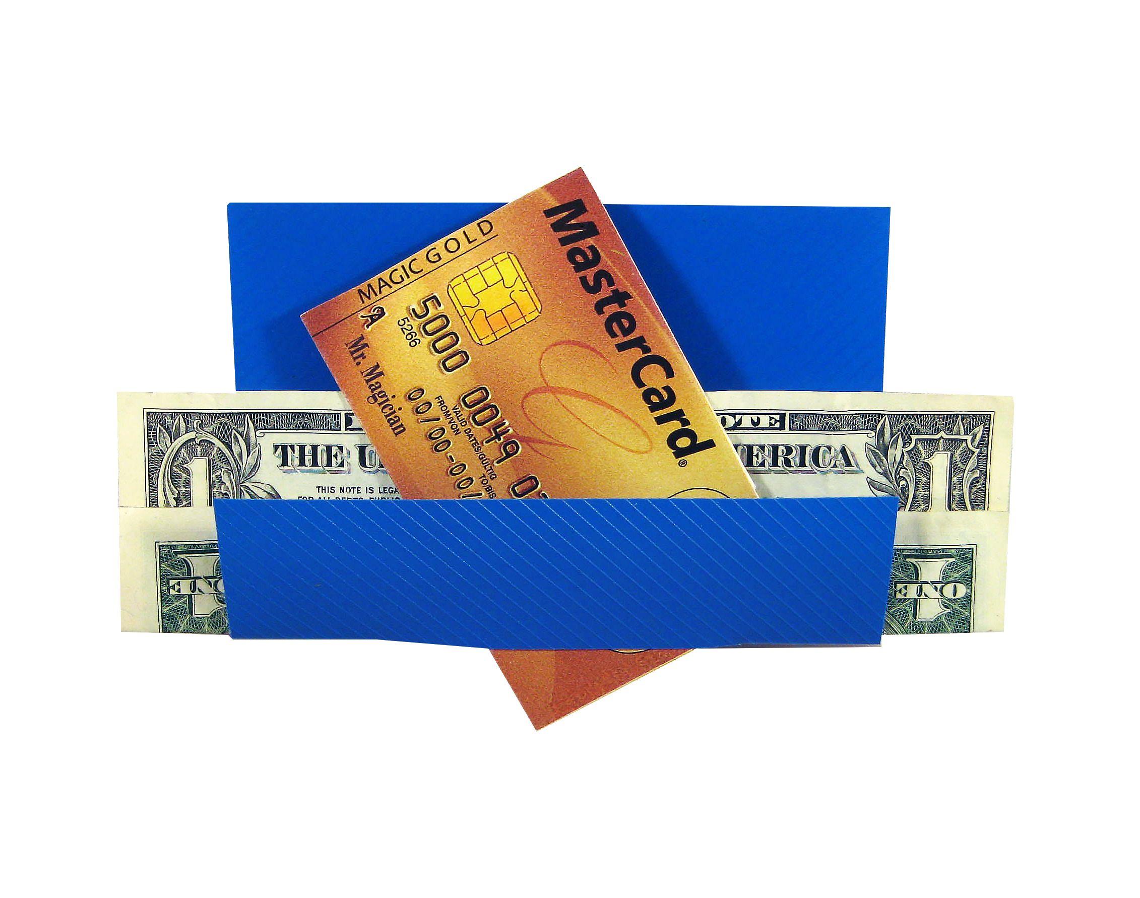 Credit card thru bill plastic folders credit card cards