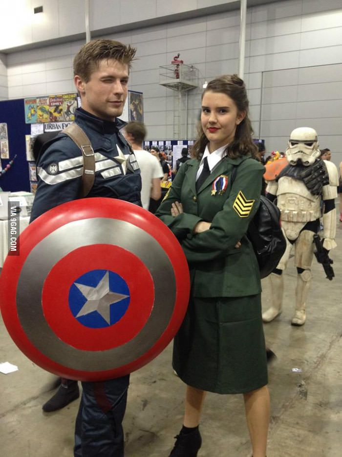 Steve and Peggy cosplay | Marvel halloween costumes ...