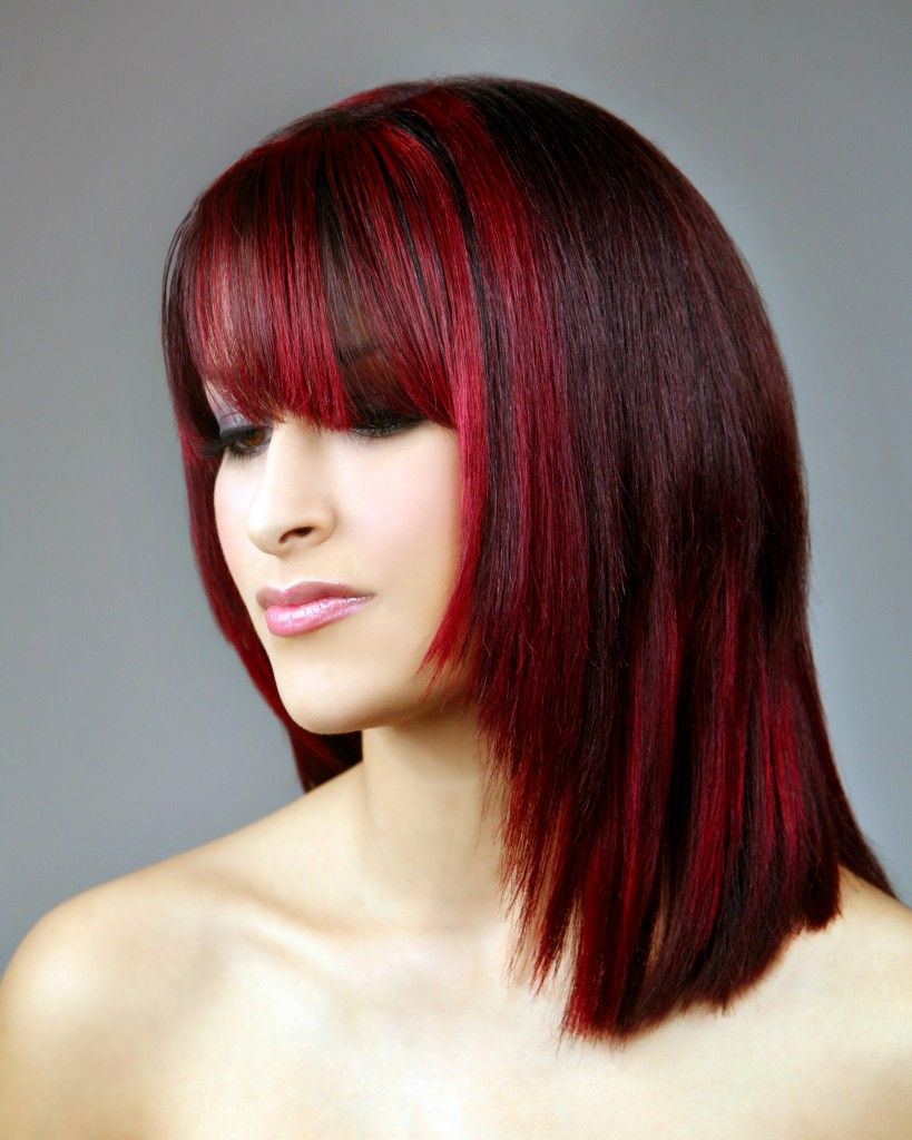 Dark Brown Hair Color With Red Highlights | Fashion Trend | War ...