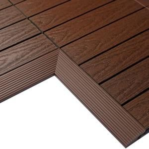 Newtechwood 1 6 Ft X 1 Ft Quick Deck Composite Deck Tile Inside Corner In Caribbean Blue 2 Pieces Box Us Qd If Zx Sb The Home Depot Deck Tile Composite Decking Deck