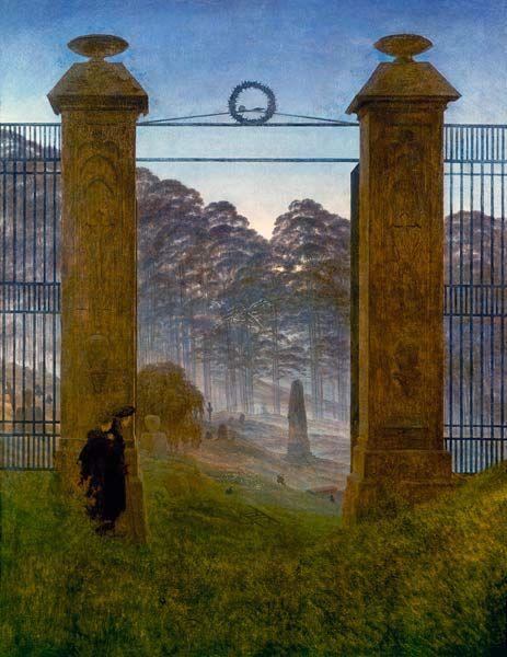 Titulo de la imágen Caspar David Friedrich - Entrada al cementerio