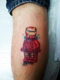 Lego Iron Man Tattoo by Ani