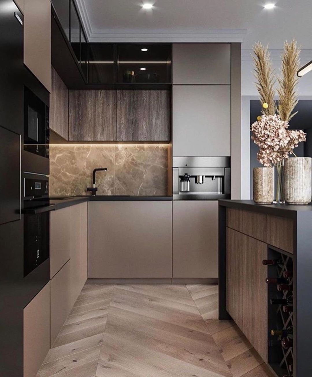 Top Interiors With Neutral Tones In 2020 Kitchen Inspiration Design Modern Kitchen Interiors Kitchen Decor Modern