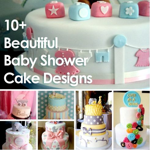 12 Beautiful Baby Shower Cakes Designs :: + icing tutorials + chocolate ganache recipe ... what's not to love??!! Pin this!