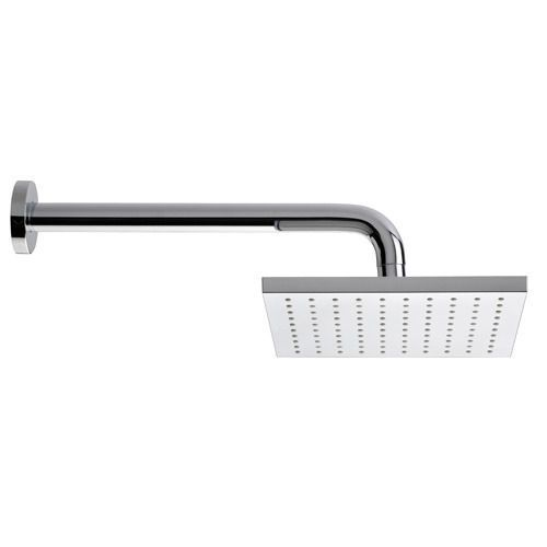 Fresh Square ABS Single Function Fixed Shower Head   With 300 Wall Arm