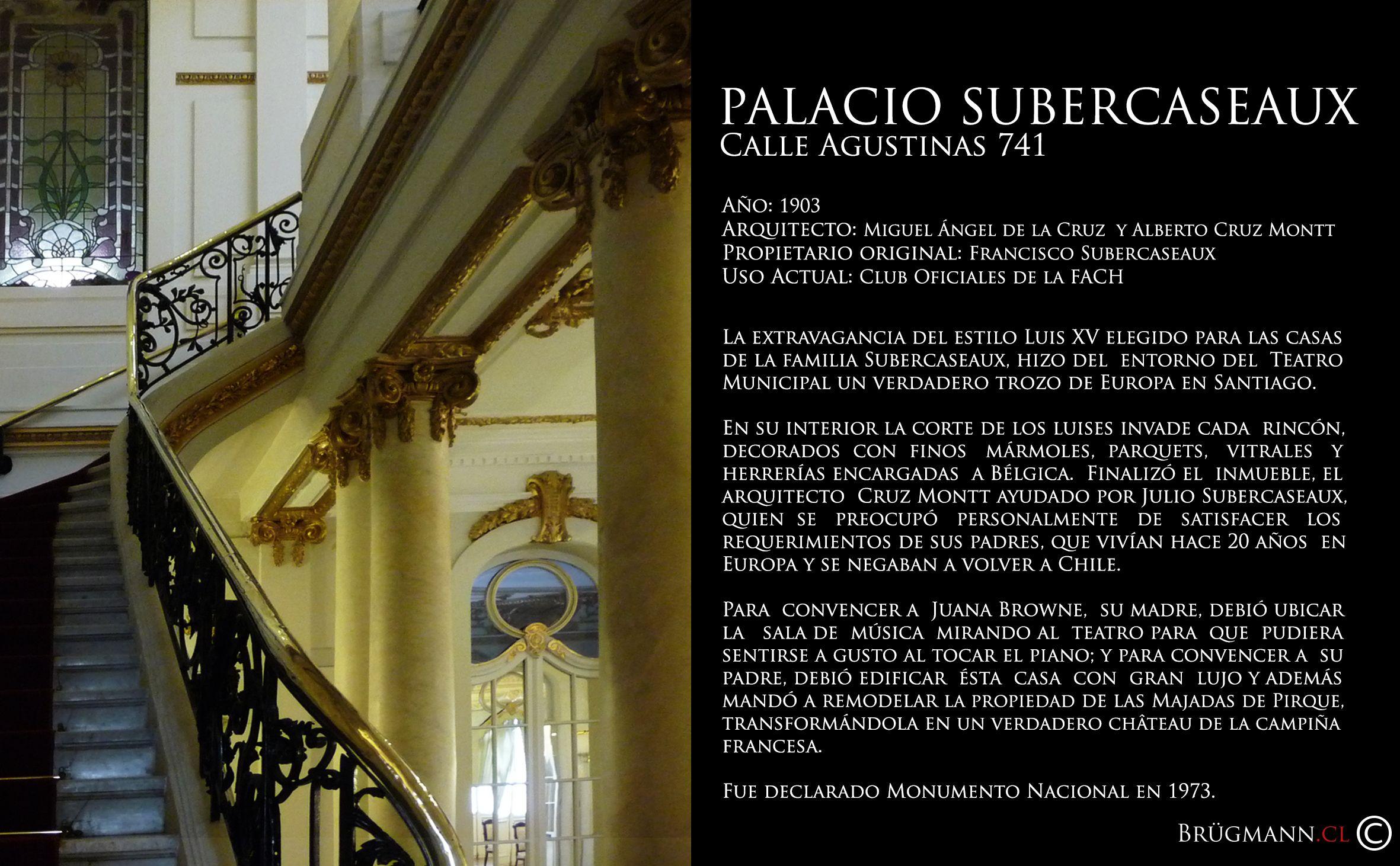 Palacio Subercaseaux Calle Agustinas 741 Santiago De Chile  # Muebles Subercaseaux