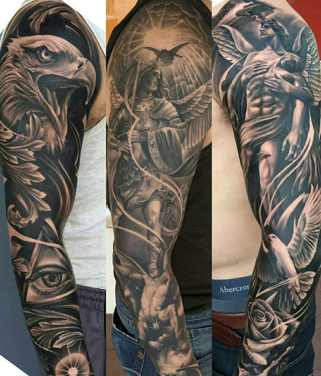 Full Shoulder and Forearm Tattoo Sleeve | Ink~Red!ble | Tattoos in ...