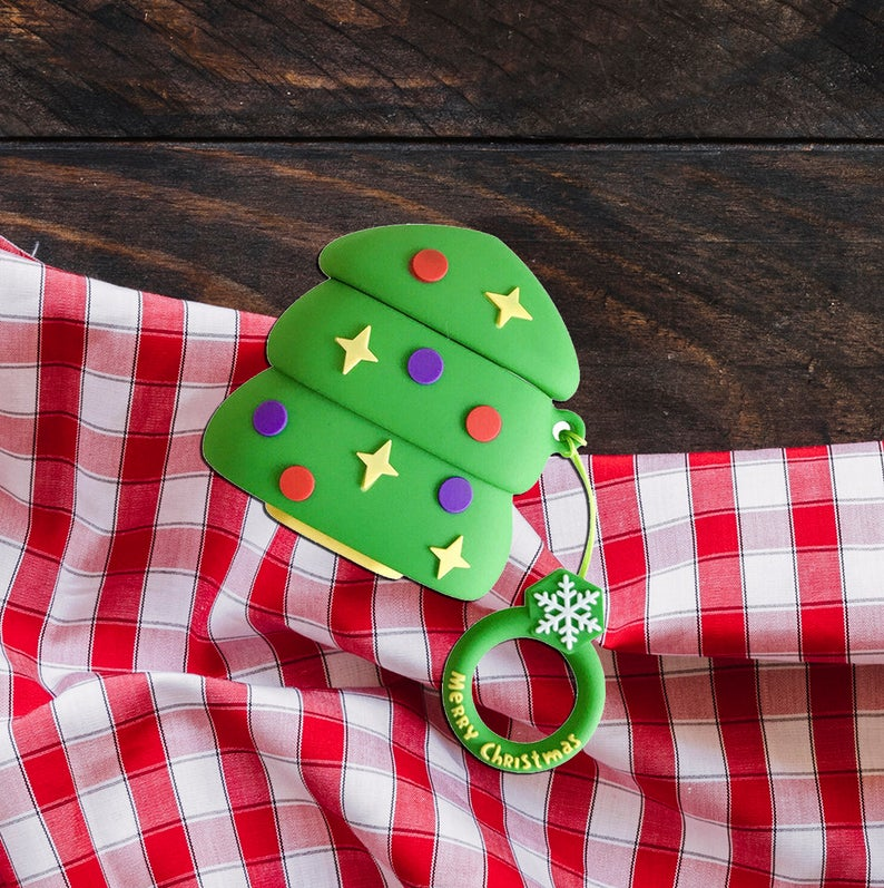 Christmas Airpod Case For Apple Airpods Generation 1 And Etsy Christmas Gifts For Her Christmas Gifts Airpod Case