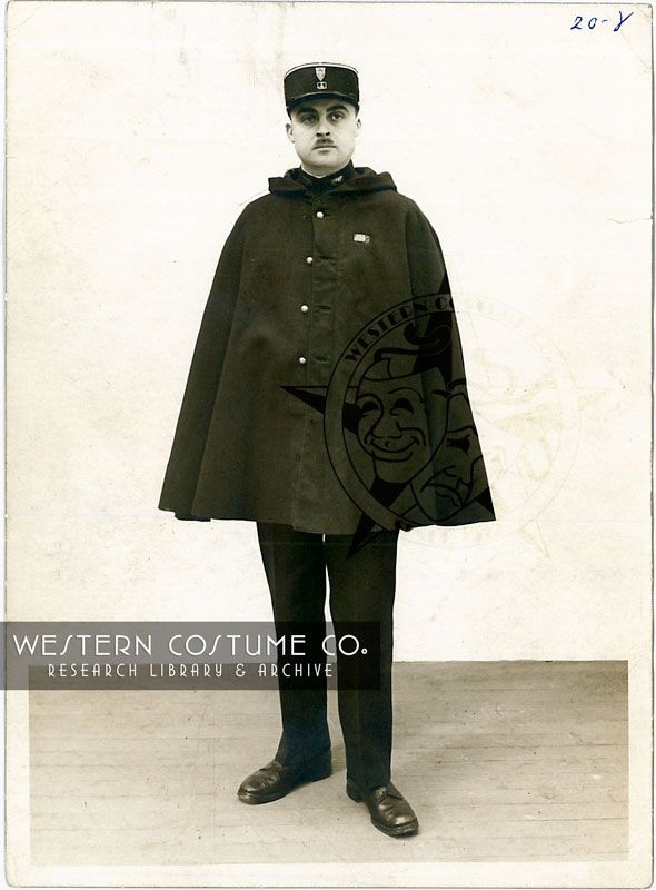 Paris Police: Uniform with cape, 1933. From the Western ...