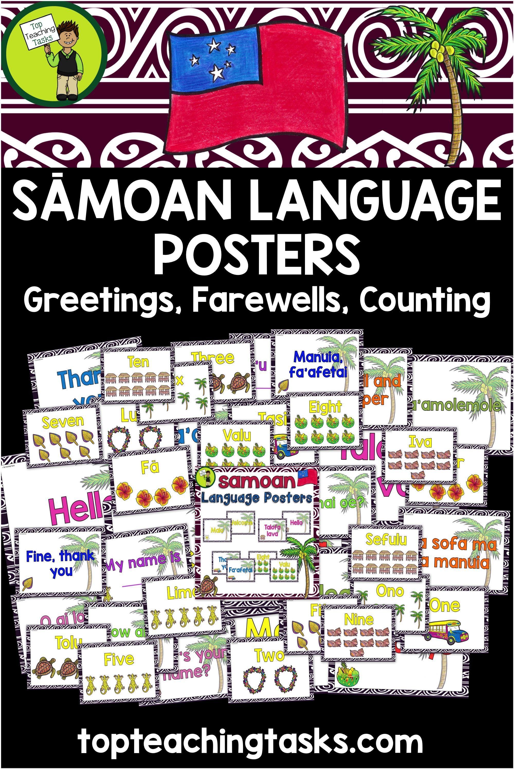 Samoan greetings introductions farewells counting classroom samoan language week samoan greetings introductions farewells and counting classroom display posters m4hsunfo