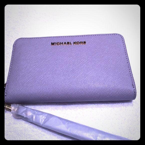 5ff6151c9eeb New Michael Kors Jet set travel phone case wallet. Brand new Michael Kors  Jet set phone case wallet in lilac MICHAEL Michael Kors Bags Wallets