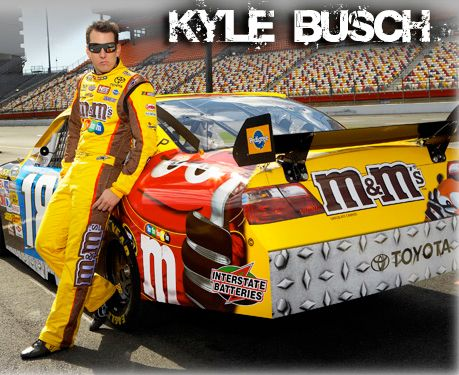 M M S Caramel Toyota Camry With Driver Kyle Busch Mars