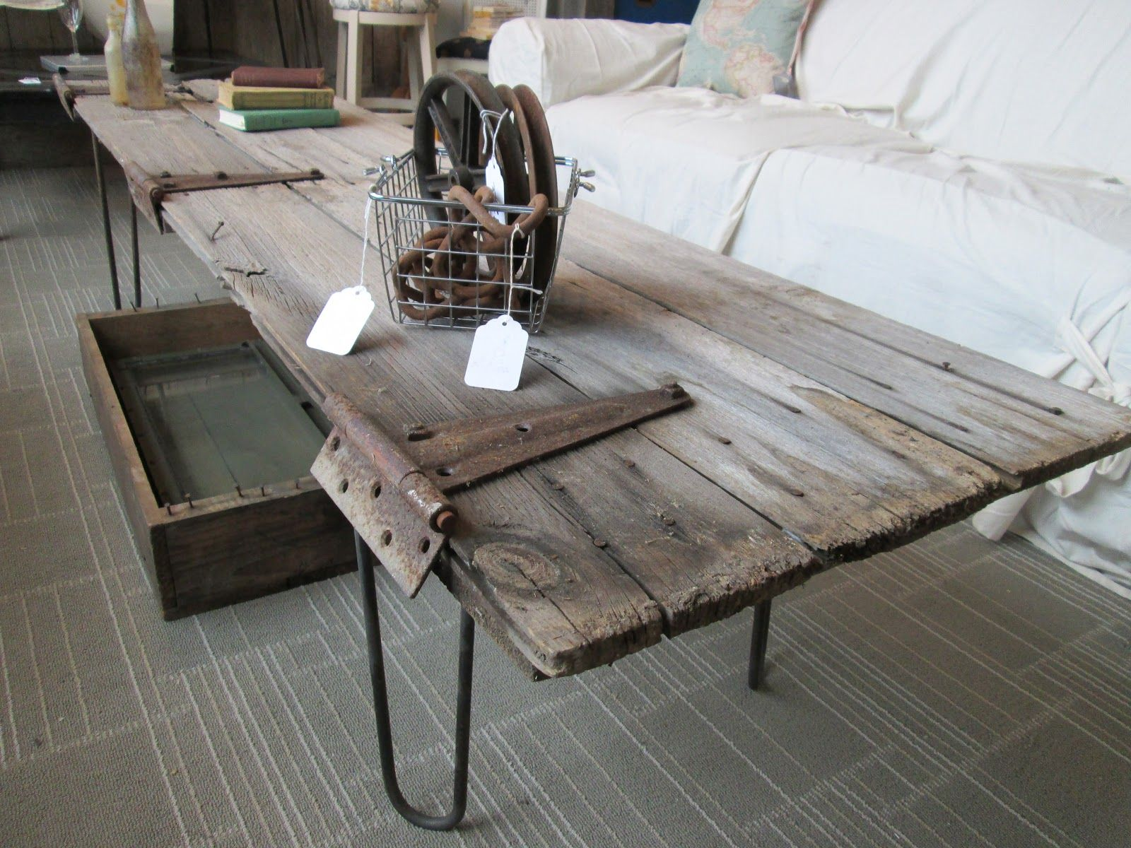 Salvaged Barn Door Coffee Table Barn Door Tables Door Table