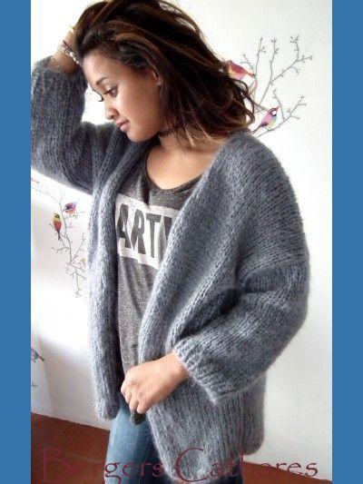 kit tricoter doudouce veste mohair et soie tricot. Black Bedroom Furniture Sets. Home Design Ideas